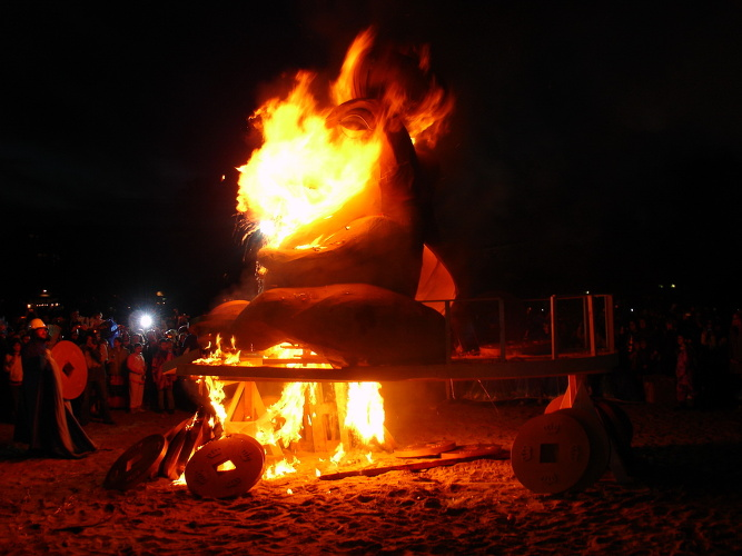 The burning of King Carnival in Rethymno.